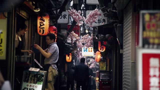 Restaurant Lined Alleyway in Japan