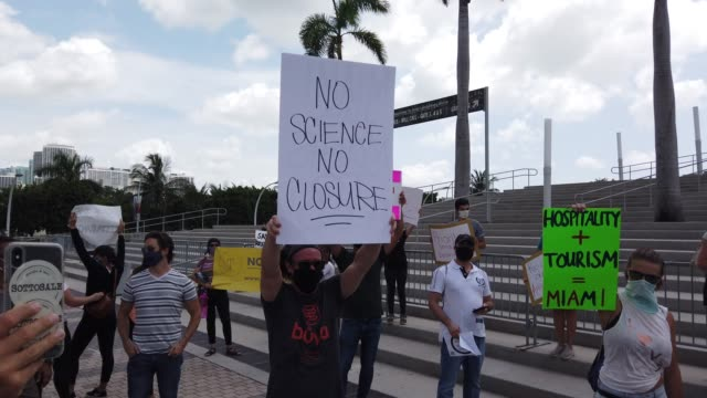 FL: Protestors Rally In Support Of Miami Restaurants Amid COVID-19 Pandemic