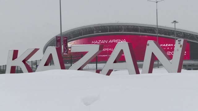 restaurant staff are taking crash language courses and landlords are jacking up prices as the mostly muslim capital of russia's olympic dreams... - kazan russia stock videos and b-roll footage