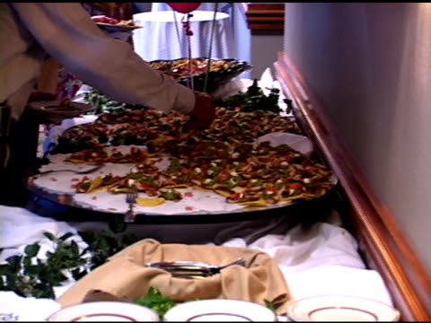 restaurant - buffet stock videos & royalty-free footage
