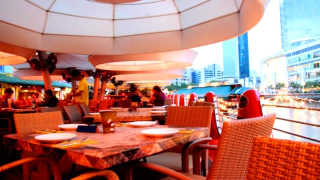 restaurant - floating moored platform stock videos & royalty-free footage