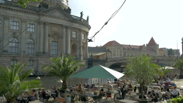 restaurant,,river spree,boats,ms, - german culture stock videos & royalty-free footage