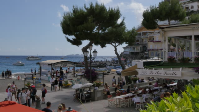 Restaurants, Costiera Amalfitana (Amalfi Coast), UNESCO World Heritage Site, Province of Salerno, Campania, Italy, Europe