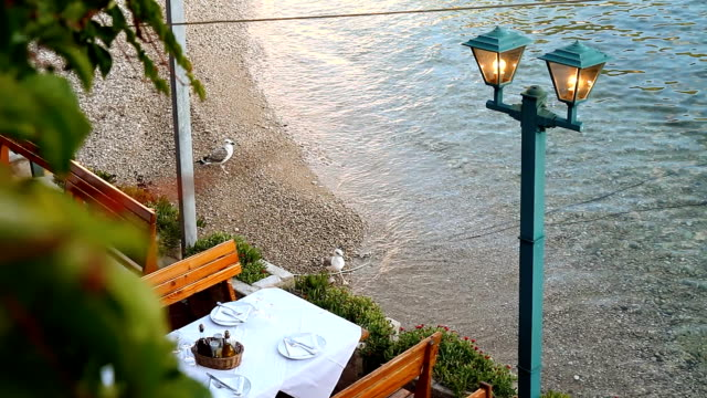 Restaurant's table on the beach