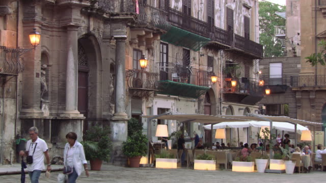 restaurants targeting the tourist market, palermo - sicily stock videos & royalty-free footage