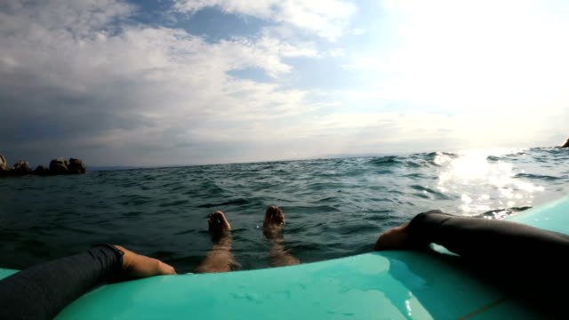 resting on my surfboard - feet up stock videos & royalty-free footage