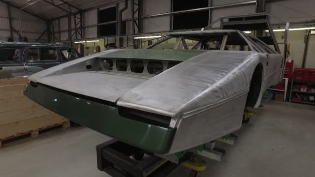 restoration of the the bulldog car by aston martin in a workshop in shropshire the only one ever made - finance and economy stock videos & royalty-free footage