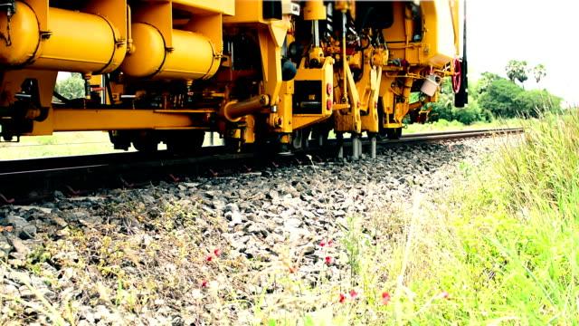restoration the railroad tracks - railroad track stock videos & royalty-free footage