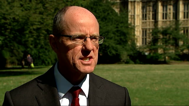 nick gibb interview england london ext nick gibb mp interview sot - general certificate of secondary education stock videos & royalty-free footage