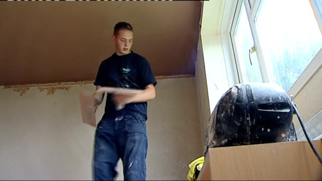 record number of passes in 2010 results wales bridgend chris price plastering ceiling in house chris price interview sot chris price plastering wall... - 一般教育証明試験点の映像素材/bロール