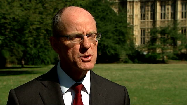 top grades rise but english scores fall; london: westminster: ext nick gibb mp interview sot - general certificate of secondary education stock videos & royalty-free footage