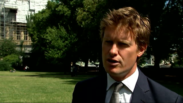 tristram hunt interview england london ext tristram hunt mp interview sot - general certificate of secondary education stock videos & royalty-free footage