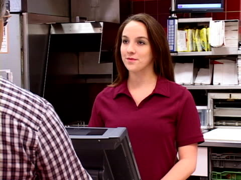 retail food worker - fast food restaurant stock videos & royalty-free footage