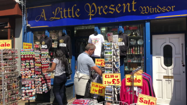 retail shops on may 14 2018 in windsor england - art and craft stock videos & royalty-free footage