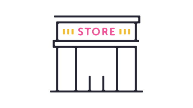 retail store icon animation - boutique stock videos & royalty-free footage