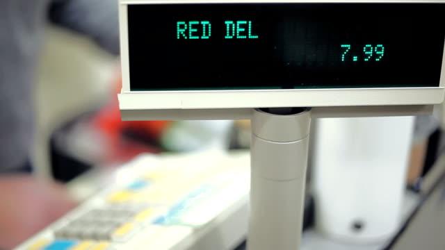 Retail Store Shopping Sales Clerk Scanning Goods