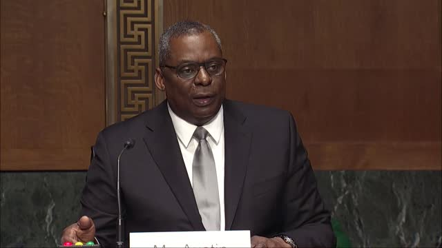 retired general lloyd austin explains to the senate armed services committee in his nomination hearing to be defense secretary that the look at his... - united states department of defense stock videos & royalty-free footage