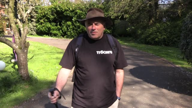 retired gp has said he is looking forward to putting his feet up after walking part of the camino de santiago pilgrimage in his co antrim driveway.... - pilgrimage stock videos & royalty-free footage
