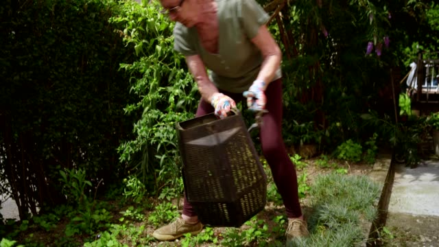 retired senior woman gardening - weeding stock videos & royalty-free footage