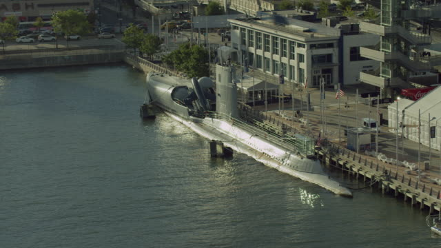 Retired Submarine At Pier In NYC