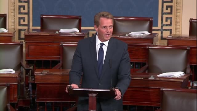 Retiring Arizona Senator Jeff Flake says in his farewell to the Senate that history was not over after the end of the Soviet Union democracy not...