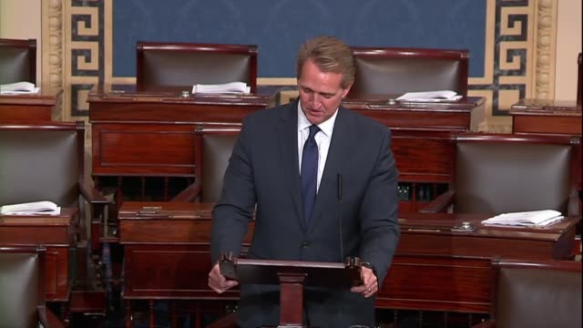 Retiring Arizona Senator Jeff Flake says in his farewell to the Senate that it was his sincere hope members remember words of Abraham Lincoln who...