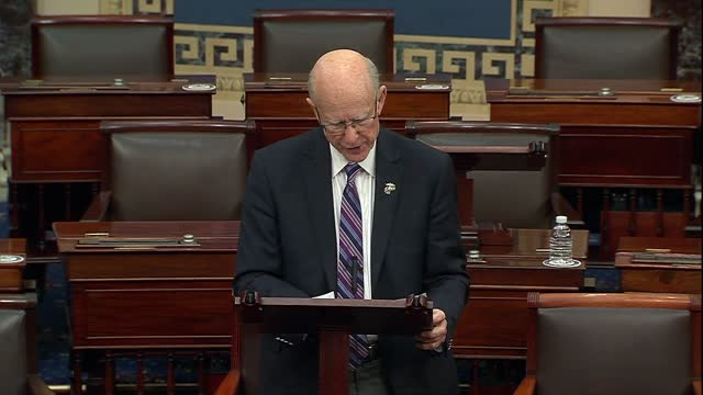 retiring kansas senator pat roberts points out during floor speeches in tribute to veterans ahead of thanksgiving that he had said throughout 40... - thanksgiving politics stock videos & royalty-free footage