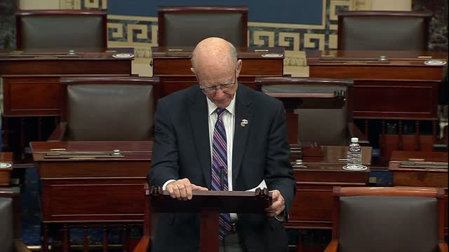 retiring kansas senator pat roberts says during floor speeches in tribute to veterans ahead of thanksgiving that it was the firm duty of free... - thanksgiving politics stock videos & royalty-free footage