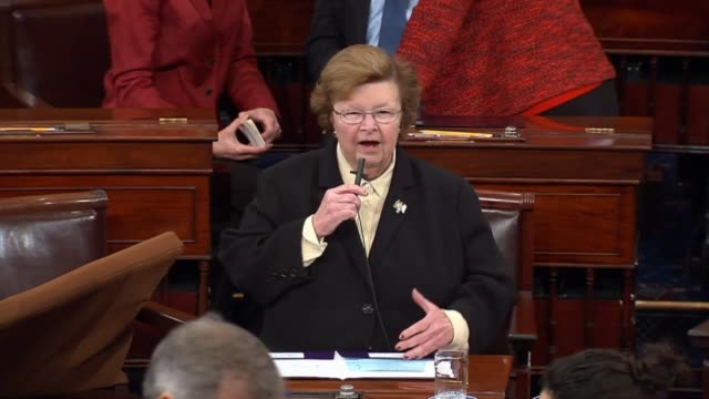 Retiring Maryland Senator Barbara Mikulski argues briefly for passage of the fiscal 2016 omnibus spending and revenue package saying Let's vote for...