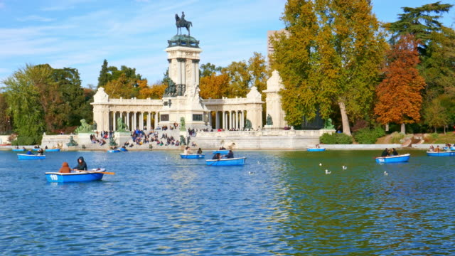 retiro park at madrid spain - historical reenactment stock videos & royalty-free footage