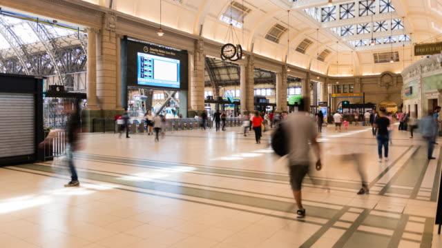 レティーロ駅のタイムラプス - アルゼンチン点の映像素材/bロール