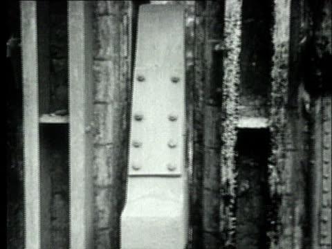 1927 B/W MONTAGE MS Retort coke oven machinery converting coal to coke/ Pennsylvania, USA