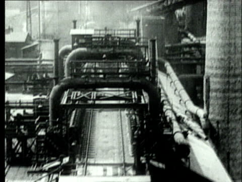 stockvideo's en b-roll-footage met 1927 b/w ws ha retort coke oven plant/ pennsylvania, usa - 1927