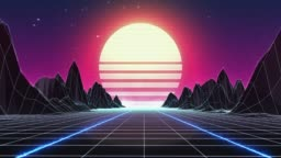 Retro 80s Background - Loopable