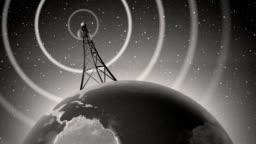 Retro Antenna Broadcasting Signal