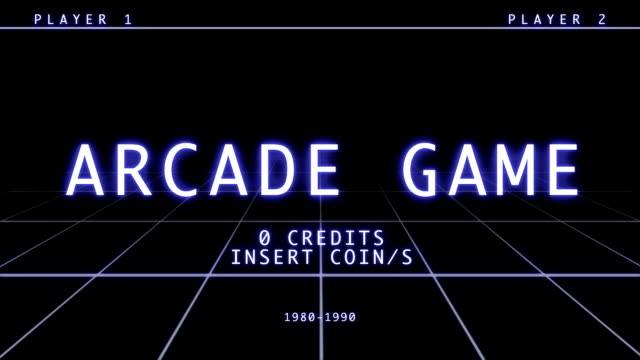 Retro Arcade Game Screen - Title Menu