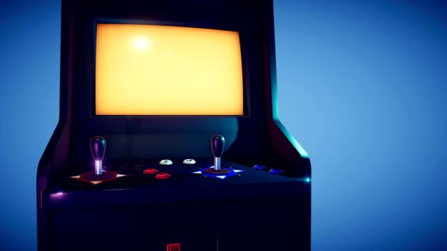retro arkad maskin 4k - computer game control bildbanksvideor och videomaterial från bakom kulisserna