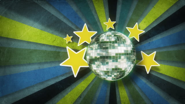 retro background and discoball - 1980 stock videos and b-roll footage