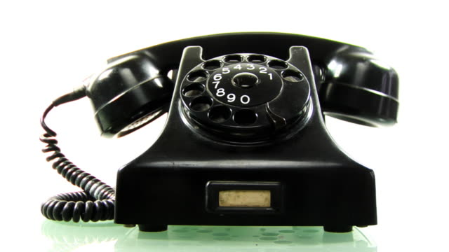 retro black phone ringing .. - rotary phone stock videos and b-roll footage