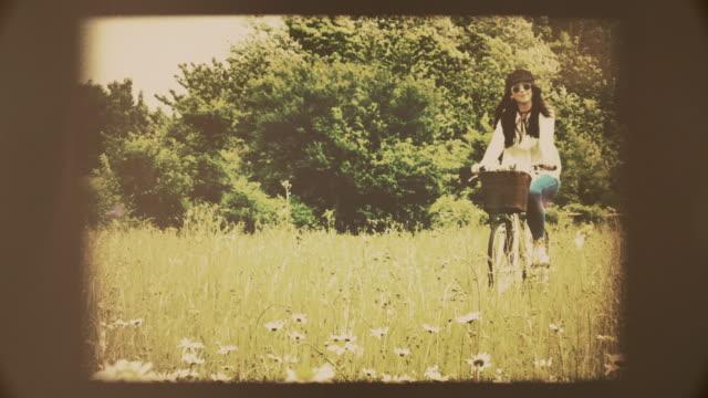 Retro cycling. Vintage look.