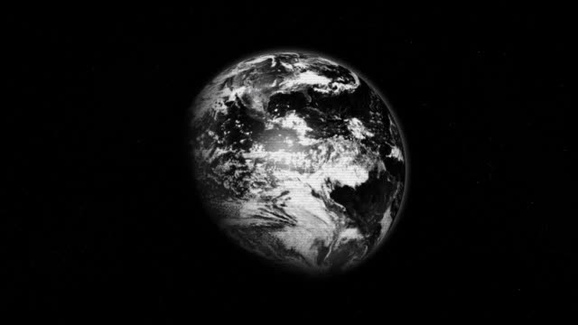 retro earth - black and white stock videos & royalty-free footage