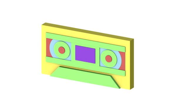レトロな エレクトロニクス モーフィング アニメーション v 1 - 投影図点の映像素材/bロール