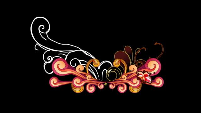 retro-Blumen-animation