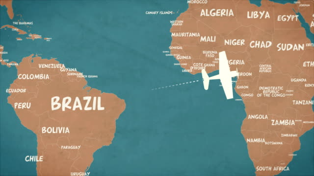 retro global air travel loop background - airplane crash stock videos and b-roll footage