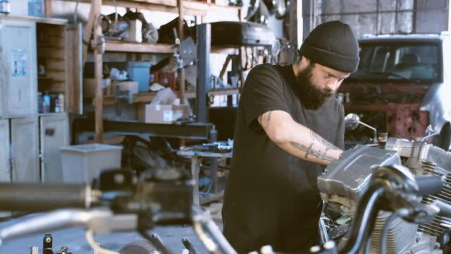 Retro Motorcycle Mechanic