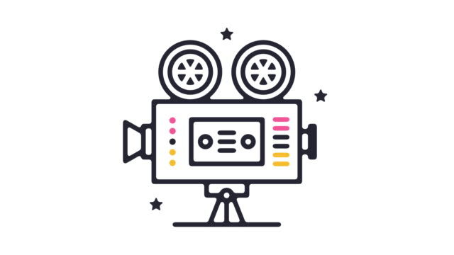 Retro Movie Icon Animation