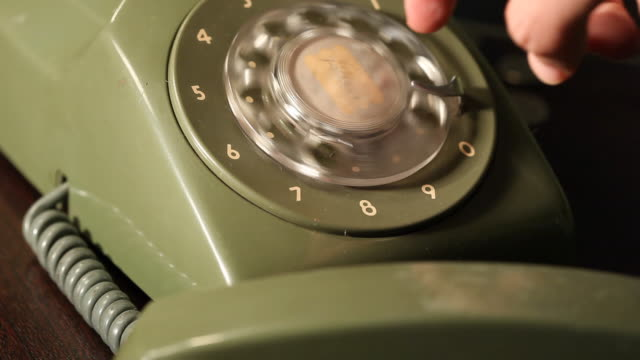 retro phone call (hd1080) - landline phone stock videos & royalty-free footage