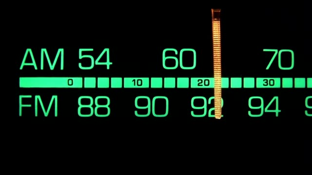 retro radio tuner dial - radio stock videos & royalty-free footage