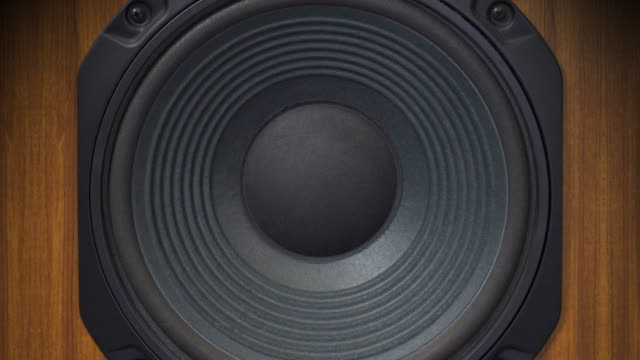 retro speaker - bass thumping (+audio) - pulsating stock videos & royalty-free footage