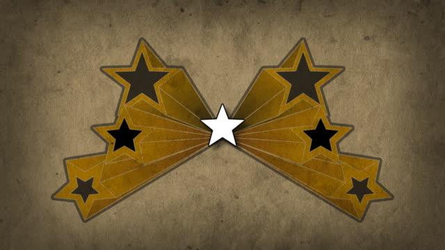 レトロなグランジ背景に星 - 茶色背景点の映像素材/bロール